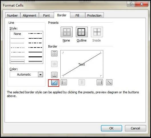 Tambahkan Garis Diagonal ke Sel - katalogue.id