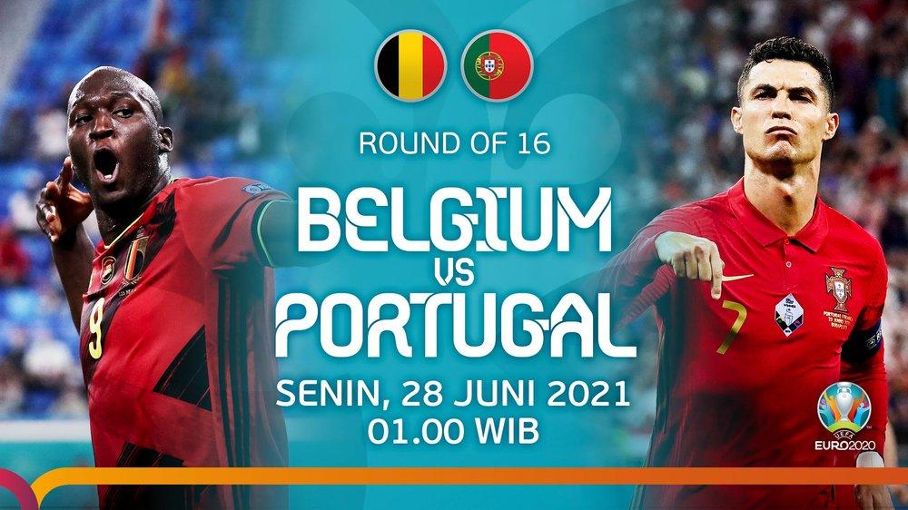 Jadwal siaran langsung 16 Besar EURO 2020: Belgia vs Portugal