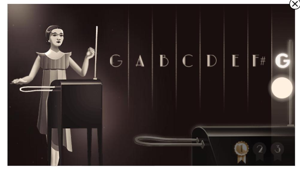 Game Google Doodle Populer Ulang Tahun ke-105 Clara Rockmore
